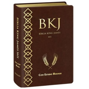 BÍBLIA KING JAMES FIEL 1611 COM ESTUDO HOLMAN - BKJ MARROM