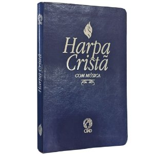 Harpa Cristã Com Música GDE Azul
