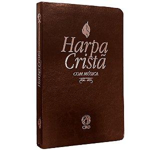 Harpa Cristã Com Música GDE Marrom