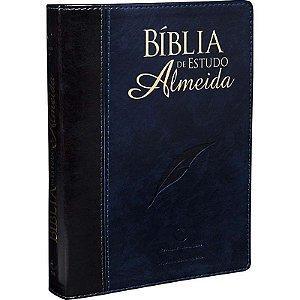 Bíblia de Estudo Almeida (Preta e Azul)