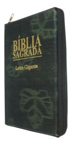 BÍBLIA LETRA GIGANTE COM ZÍPER - VERDE