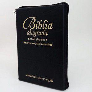BÍBLIA LETRA GIGANTE COM ZÍPER - PRETA