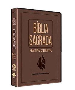 BIBLIA SLIM HARPA GRANDE LUXO (MARROM NOBRE)