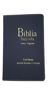 Bíblia Sagrada Letra Gigante |Com harpa e Índice | Capa Azul