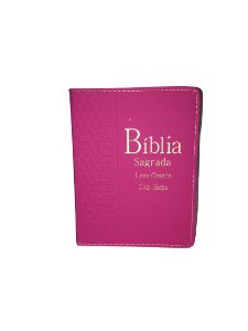 Bíblia Sagrada |Letra Grande Com Harpa | Capa Rosa