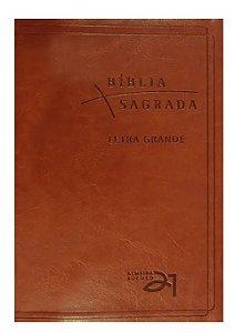 Bíblia Almeida Século 21 Letra Grande luxo - marrom