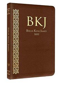 Bíblia Sagrada | King James Fiel 1611 | Letra Média | Brochura | Marrom | Ultra Fina