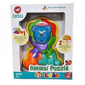 ANIMAL PUZZLE 3D LEAO - CALESITA