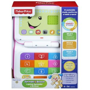 Novo Laptop Aprender E Brincar Colorido Fisher Price