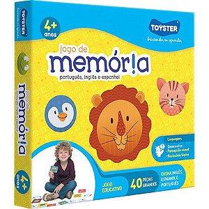 JOGO MEMORIA PORTUGUES, INGLES E ESPANHOL - TOYSTER