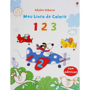 1 2 3: Meu Livro de Colorir - Usborne