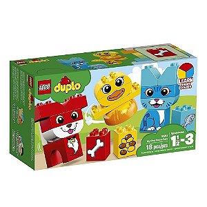 O MEU PRIMEIRO QUEBRA-CABECAS COM ANIMAIS DE ESTIMACAO LEGO 10858