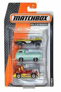 MATCHBOX 3 PACK 1:64 SORTIDO - C3713 - MATTEL