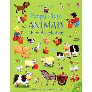 Poppy e Sam Animais: Livro de Adesivos - Usborne