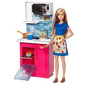 Boneca E Playset - Salão De Beleza E Barbie Fjb36 Mattel