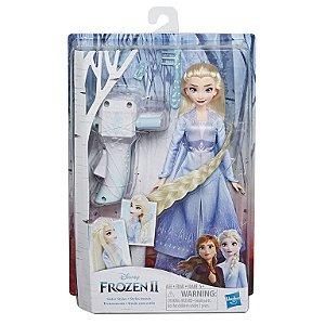 Boneca Articulada - Disney - Frozen 2 - Lindas Tranças - Elsa - Hasbro