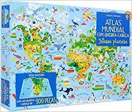 Nosso Planeta: Atlas Mundial Com Quebra Cabeca - Usborne