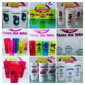 Copos Long Drink Coloridos - Kit 100