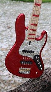 Jazz Bass Garcia's nova cor Red Apple (vermelho)
