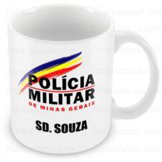 Caneca Personalizada de Porcelana Policial Militar MG