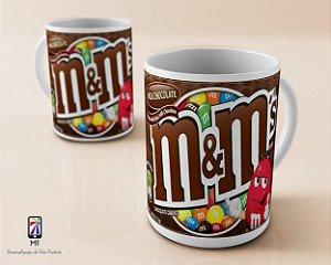 Caneca Personalizada de Porcelana - Chocolate M & M