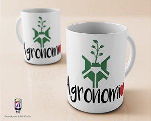 Caneca Personalizada de Porcelana - Profissão Agronomia