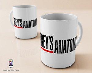 Caneca Personalizada de Porcelana - Grey's Anatomy