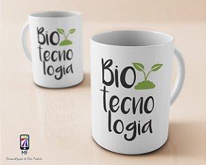 Caneca Personalizada de Porcelana - Profissão Biotecnologia