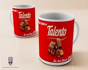 Caneca Personalizada de Porcelana - Chocolate Talento (MOD 1)