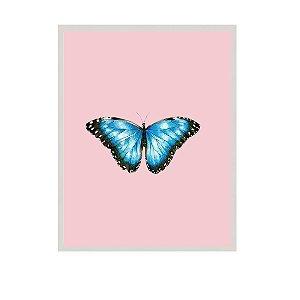 Quadro borboleta fundo rosa