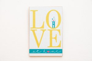 Placa MDF Love at home