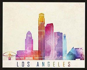 Quadro cidade colorido Los Angeles
