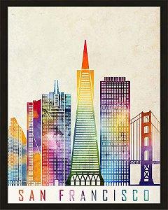 Quadro cidade colorida São Francisco
