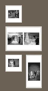 Coleção de fotos com 4 quadros
