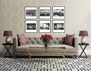 Quadros coleção cenas urbanas medida 43 x 43 cm