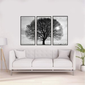 Quadros árvore 3 em 1 medida 53 cm L x 93 cm A cada