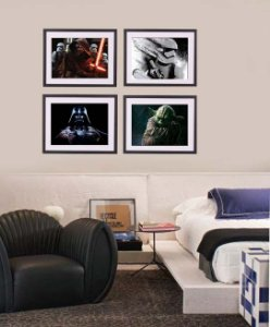 Quadros coleção Star Wars medida 53 cm L x 43 cm A cada
