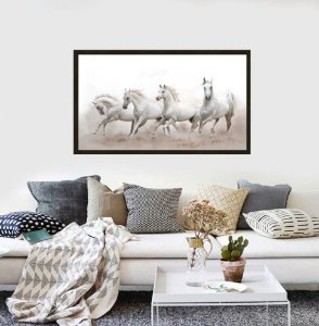 Quadro cavalo medida 1,23 cm L x 73 cm A
