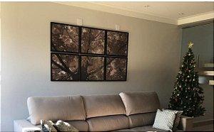 Árvore sépia composição 6 quadros