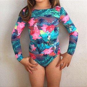 Body Infantil Proteção UV 50+ Flordolago