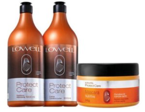 Shampoo Protect Care + Condicionador + Mascara Nutritiva Lowell