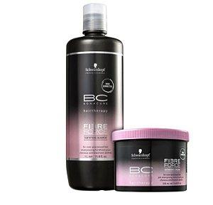 Shampoo e Mascara Fibre Force Schwarzkopf Professional Bonacure