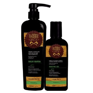 Kit Balm e Gel para barba Clean Fresh Barber Jack