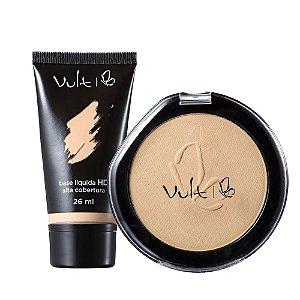 Make Up Vult Base HD Alta Cobertura R-15 e Pó Compacto 03