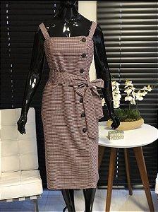 Vestido Midi Xadrez
