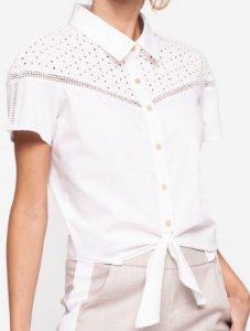 Camisa Cropped Detalhes Lese