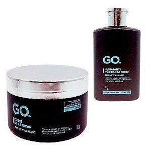 Kit Creme de Barbear GO. 180g, Hidratante Pós-Barba GO. 70ml - The New Classic