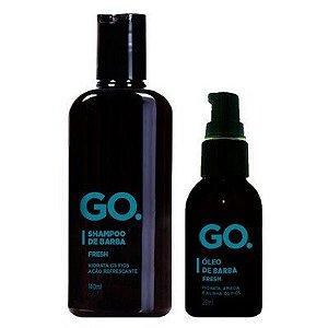 Kit Shampoo de Barba GO. Fresh 140ml Óleo de Barba GO. Fresh 25ml