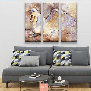 Trio de Tela Cisne Branco