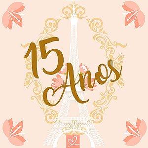 Pista de Dança 15 Anos Torre Eiffel Rosê - Sem Personalização